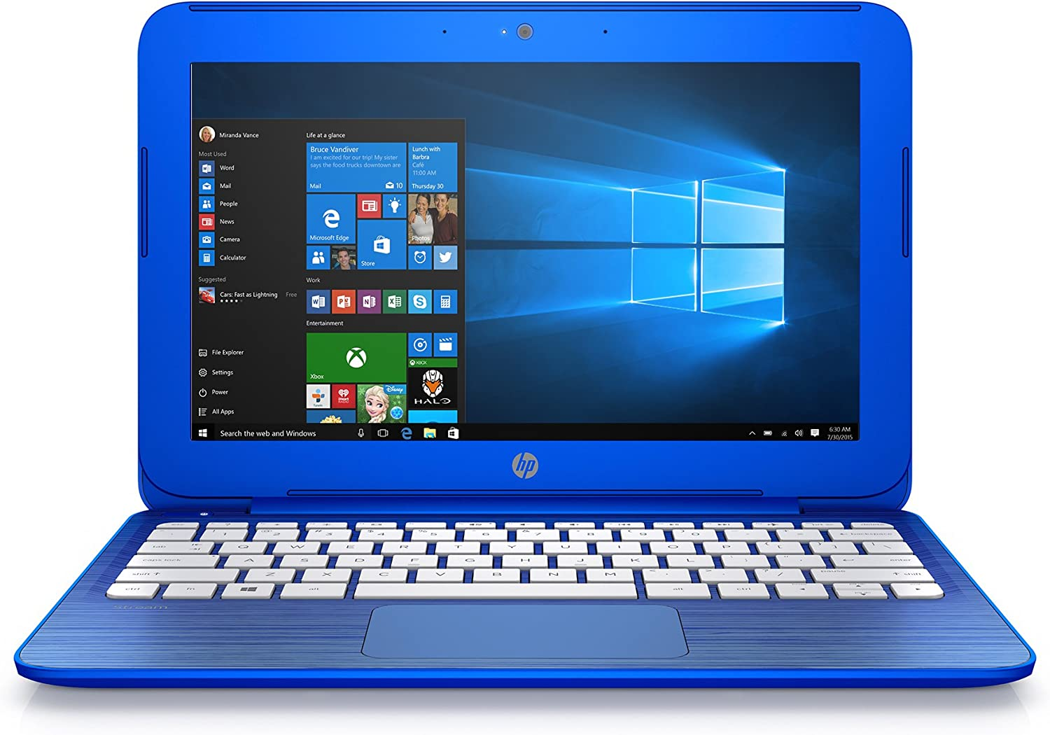 Amazon Com Discontinued Hp Stream 11 R010nr 11 6 Inch Notebook Intel Celeron Processor 2gb Ram 32 Gb Hard Drive Windows 10 Home 64 Bit Cobalt Blue Computers Accessories