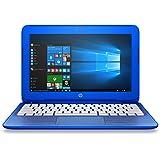HP Stream 11-r010nr 11.6-Inch Notebook (Intel Celeron Processor, 2GB RAM, 32 GB Hard Drive, Windows 10 Home 64- Bit), Cobalt Blue(US Version imported by uShopMall U.S.A.)