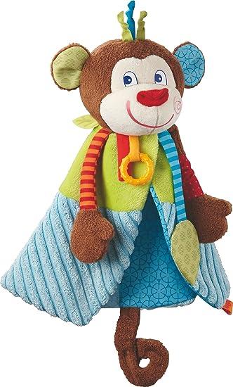 HABA 302999 Baby-Spielzeug ab 6 Monaten Kuscheltier mit vielen Effekten zum Spielen und Entdecken Greiffigur Affe Lino