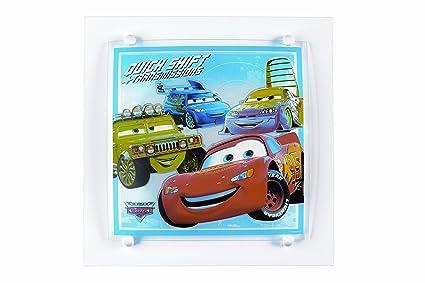 Plafoniera Quadrata Vetro : Dalber plafoniera quadrata di cars in vetro e metallo