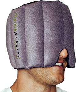 THERMA-STRETCH Head Heating Pad - Microwaveable Face Wrap for Headaches, Migraine, Sinus Pressure Relief – Natural, Adjustable and Stretchable Therapy that STAYS