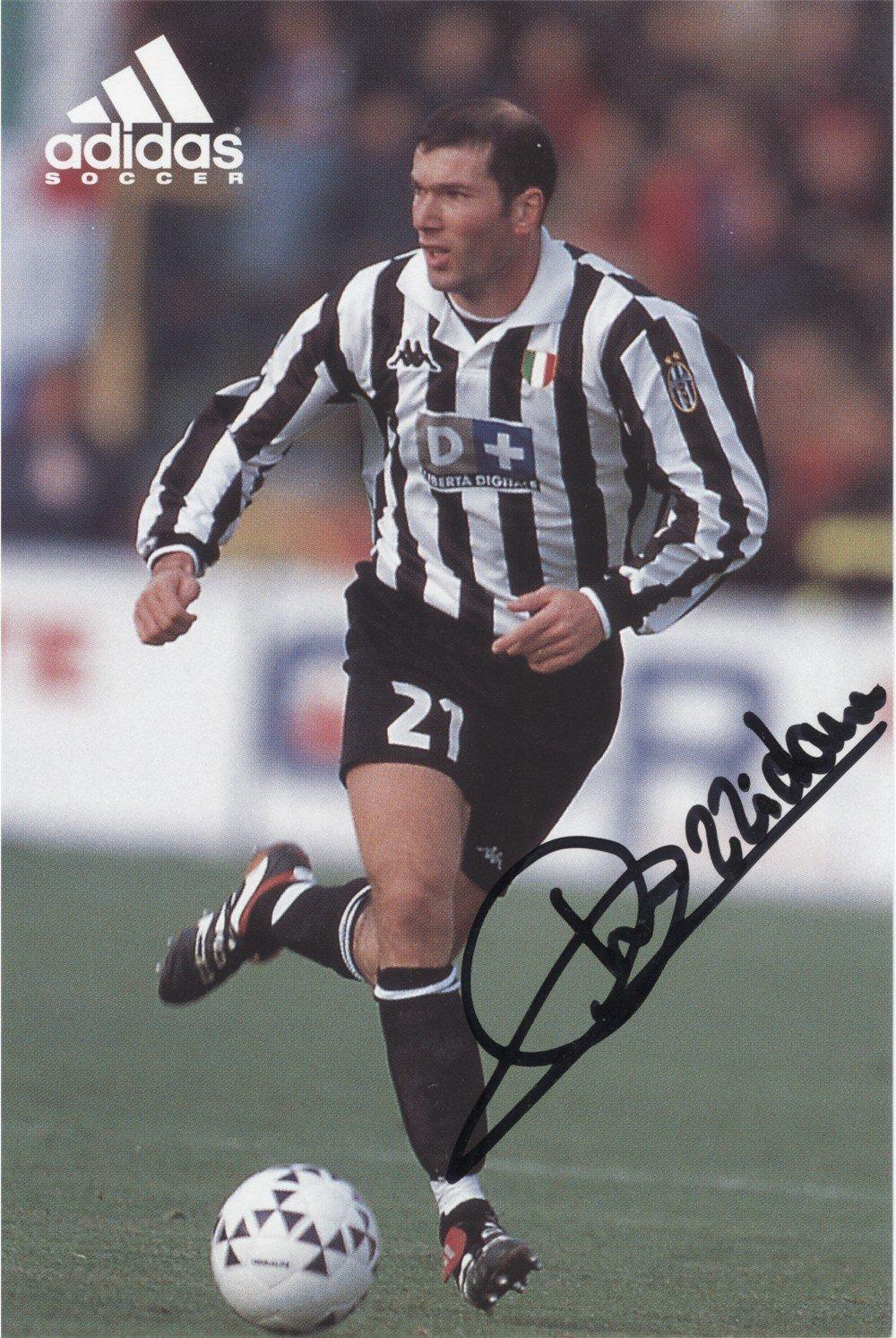 on sale 02b58 dc1ce Zinedine Zidane Juventus Genuine HAND SIGNED Autograph AFTAL ...