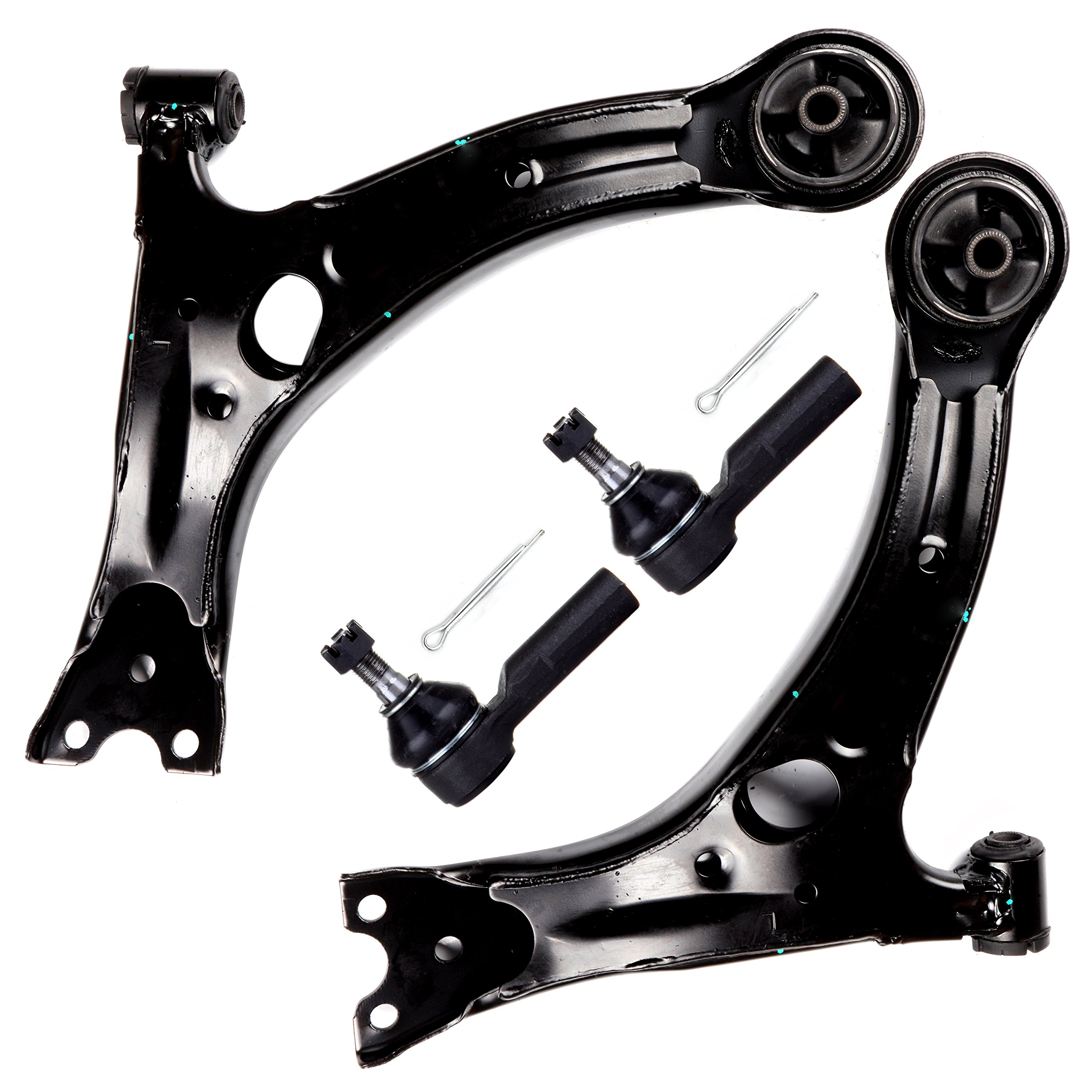 SCITOO 4pcs Suspension Kit 2 Lower Control Arm 2 Outer Tie Rodsfit 2003-2008 Pontiac Vibe 2003-2008 Toyota Matrix ES3713 by SCITOO