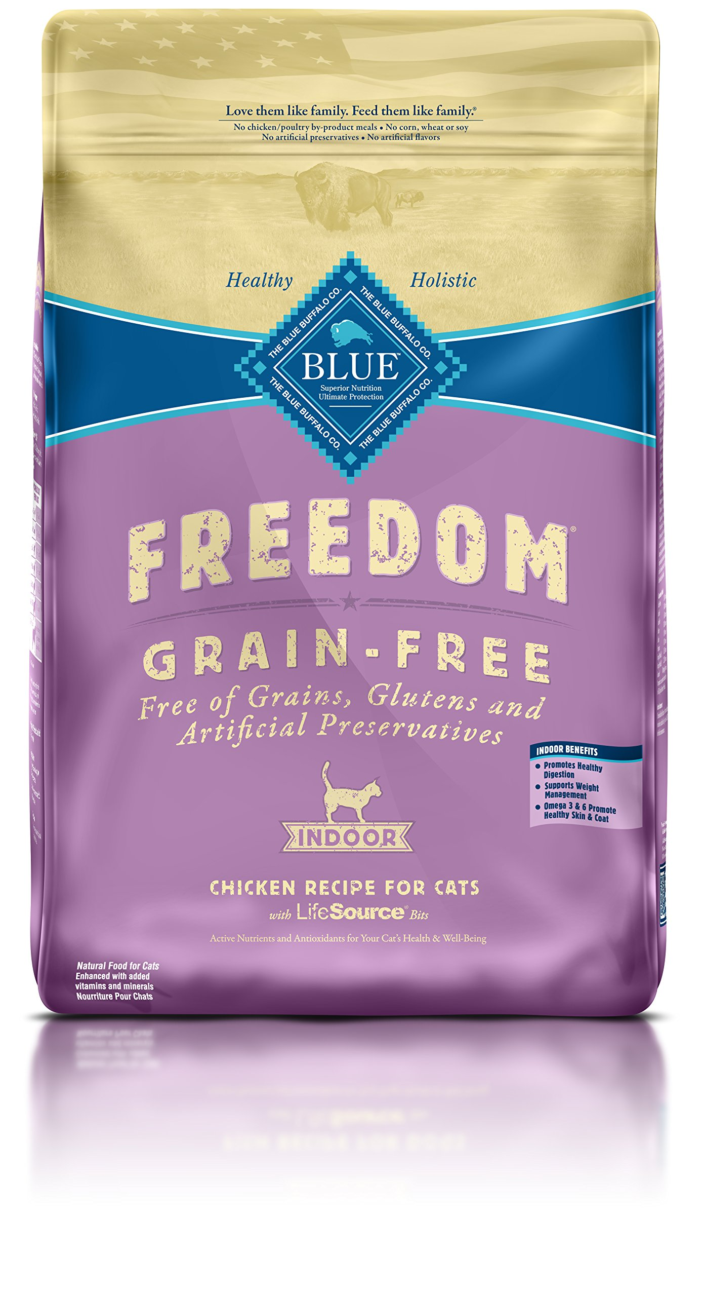 BLUE Freedom Adult Indoor Grain Free Chicken Dry Cat Food 11-lb.