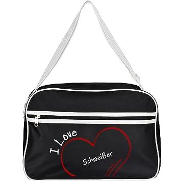 Retro bolso bandolera I Love soldador colour negro: Amazon.es: Deportes y aire libre