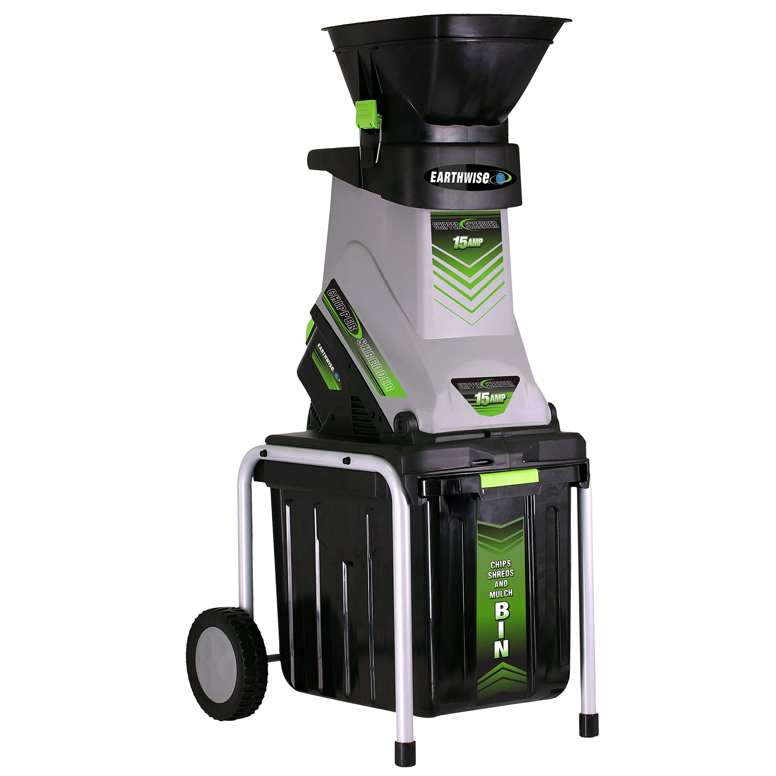 Earthwise GS70015 15 Amp Electric Garden Chipper/Shredder with Collect, Bin (Renewed)