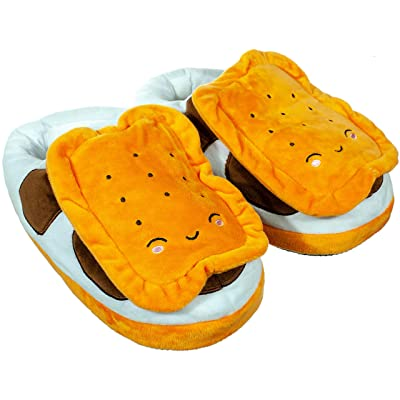 Amazon.com | Calming Covers USB Heated Slipper | Built in Foot Warmer pad Heats Your feet to Keep Your tootsies Toasty | S'Mores | Slippers
