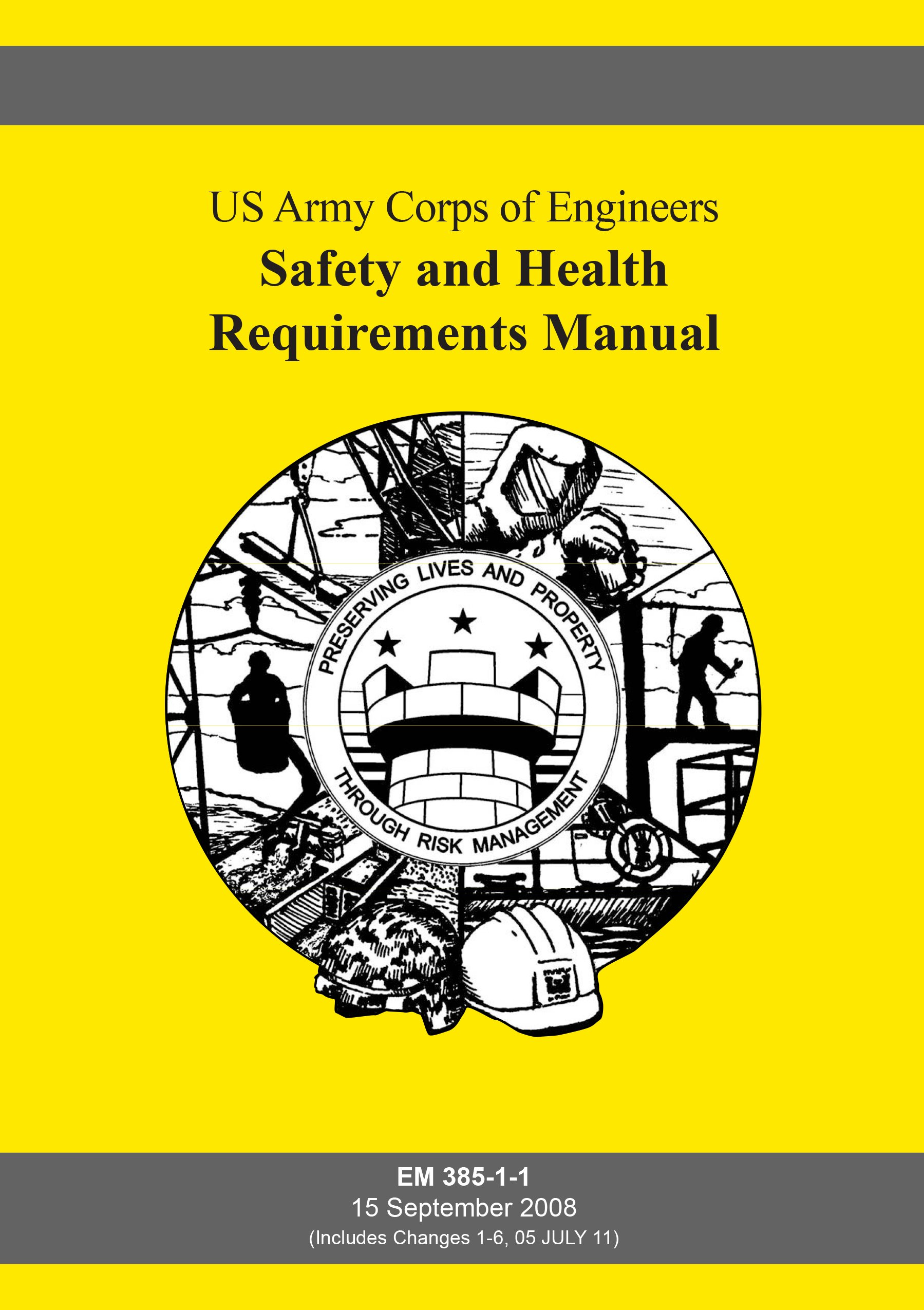 by us army corps of engineers safety and health requirements manual rh amazon com em 385-1-1 manual 2008 em 385-1-1 manual 2014 pdf