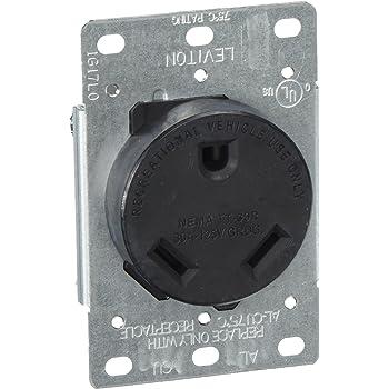 amazon com leviton 7313 30 amp 125 volt nema tt 30r 2p 3w rh amazon com