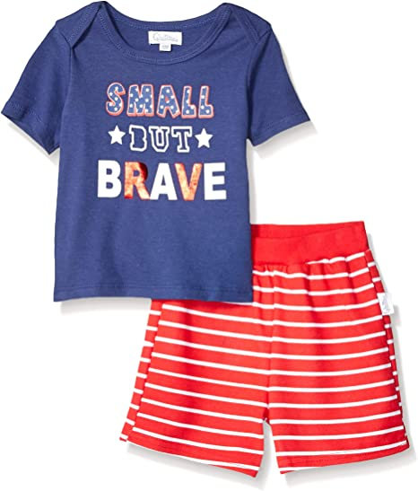 Quiltex Boys Toddler USA 2 Pc Set with Tank and Shorts