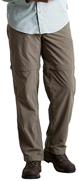804ce18c ExOfficio Men's BugsAway Sol Cool Ampario Convertible Hiking Pants, Falcon,  Size 36