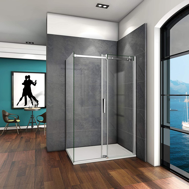140x80x195cm Mamparas de ducha cabina de ducha 6mm vidrio templado de Aica