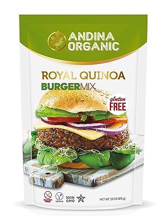 Andina Organic Quinoa Vegan Protein Burger Mix | sin gluten ...