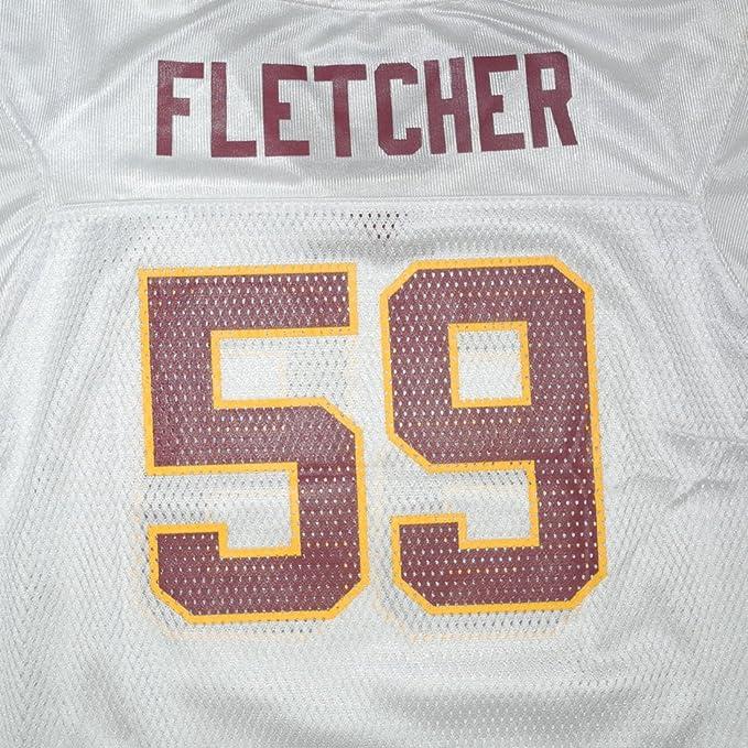91f91c1f4 Children   Boys NFL Washington Redskins Fletcher  59 Athletic Comfortable  Fit Short Sleeve Jersey Shirt - White (Size  M(5-6) )  Amazon.co.uk   Clothing