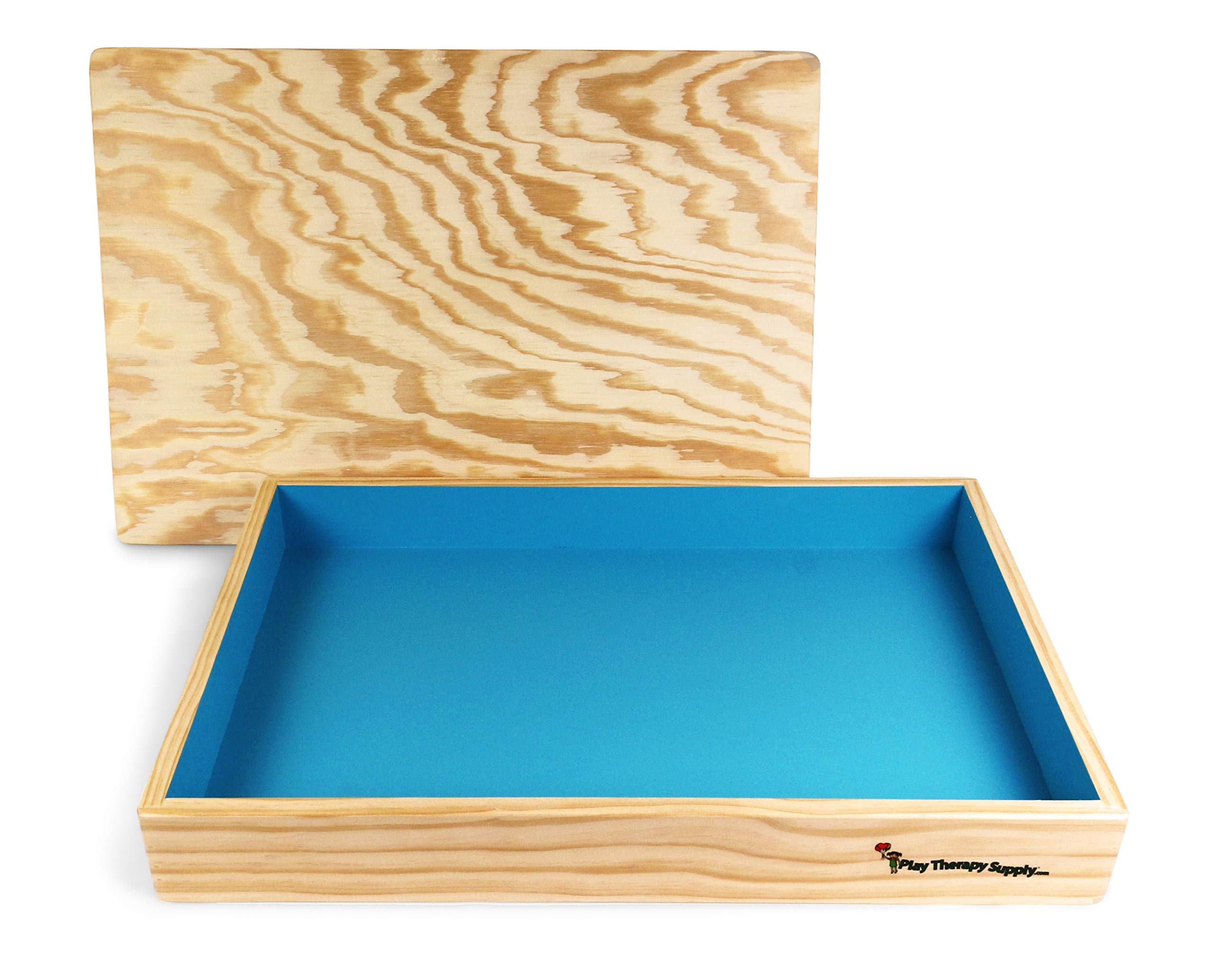 PlayTherapySupply Basic Wooden Sandtray with Lid