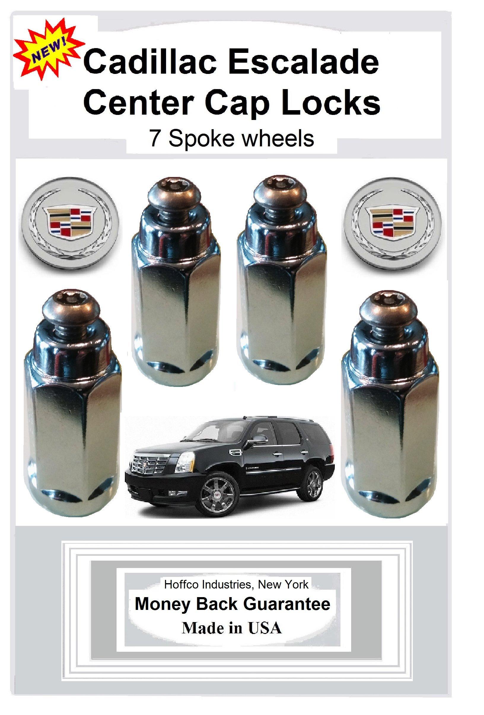 Cadillac Escalade Center Cap Locks for 7 spoke wheels