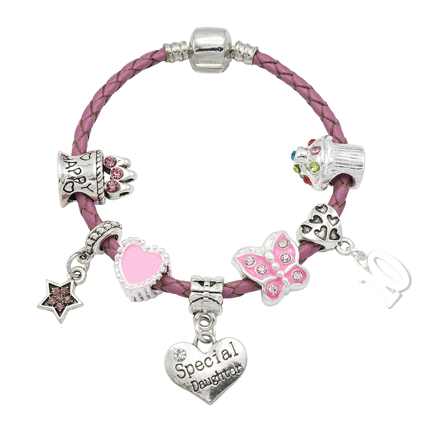 'Special Daughter' - Happy 10th Birthday Bracelet For Girls with Gift Box - Girls Jewellery Jewellery Hut BRSpecial Daughter10-17