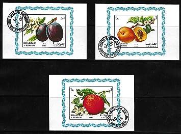 Sharjah Stamps ~ UAE Middle East ~ Fruits ~ Orange