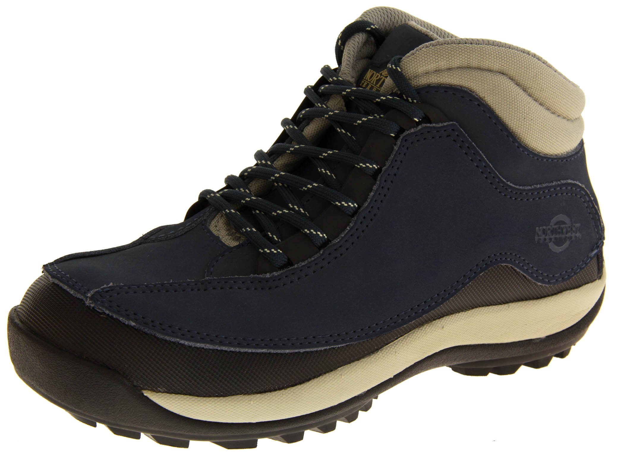 Northwest Territory Navy Blue Leather Safety Boots US 6