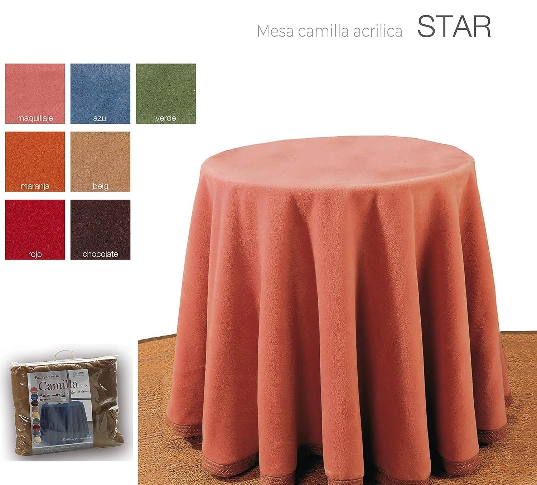 Rojo, 90cm mantel Falda para Mesa Camilla Redonda Hogar Decorativa Invierno de 100/% acr/ílico Medidas