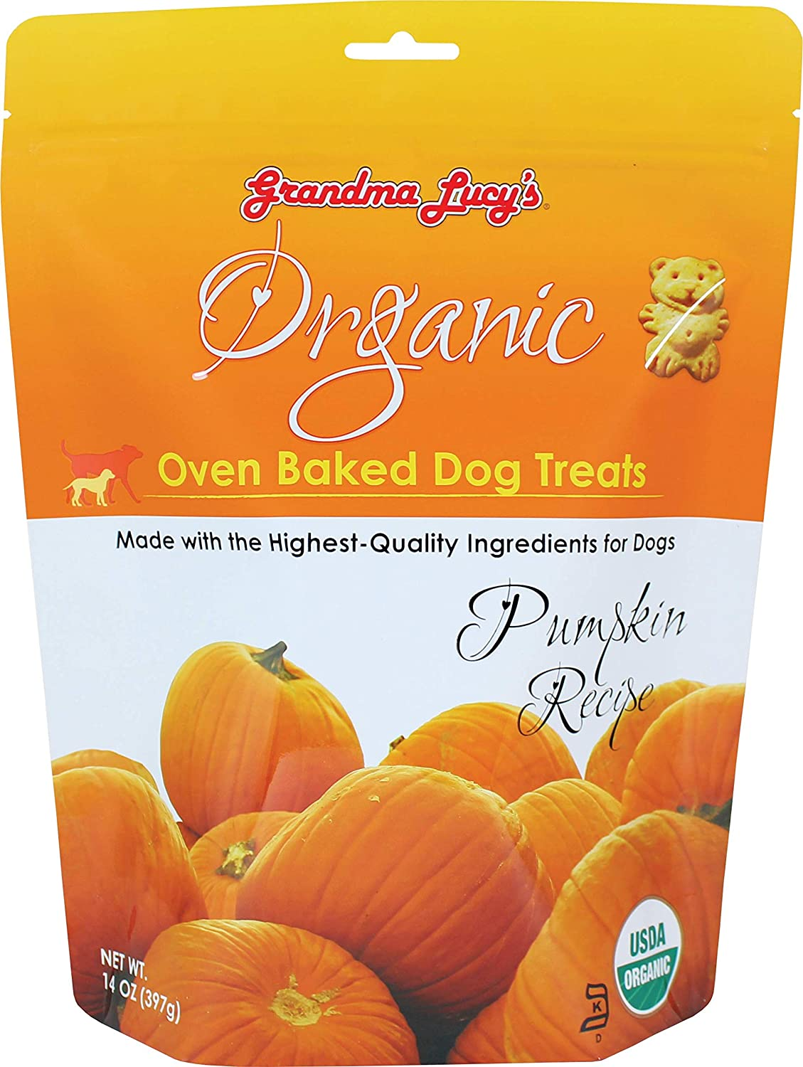 Organic Baked Dog Treats - Pumpkin - 14oz