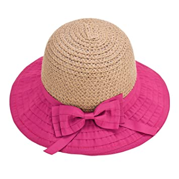 01c5d7a1962 Mainstream Women Sun Hats Classic Foldable Patchwork Wide Brim Straw Hat  Nice Bow Summer Boater Hat