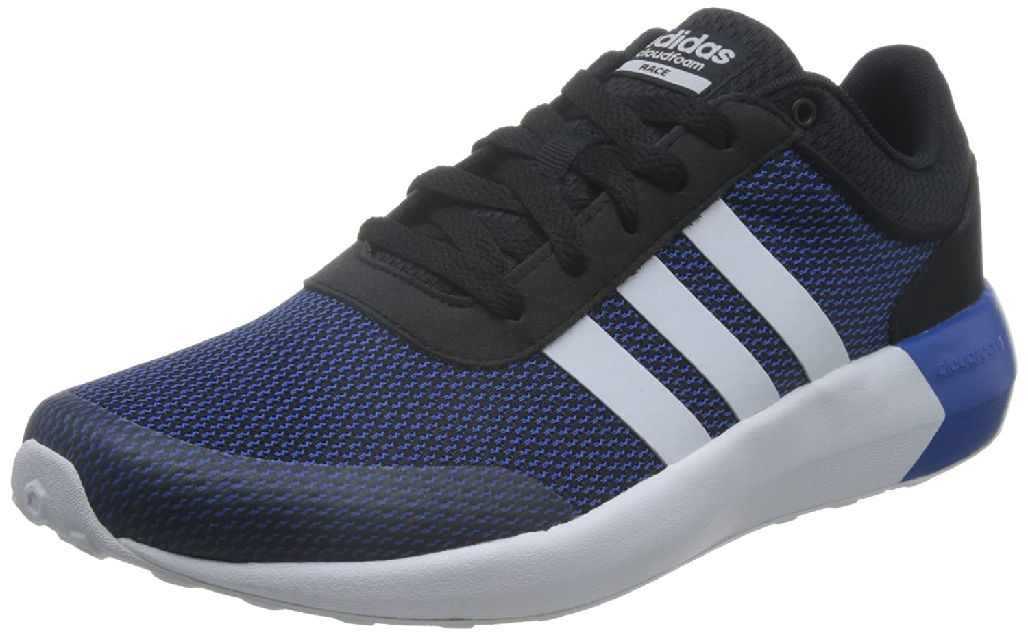big sale c9d81 dcdb5 adidas neo Men s Cloudfoam Race Cblack, Ftwwht and Blue Sneakers - 12  UK India (47.3 EU)  Buy Online at Low Prices in India - Amazon.in