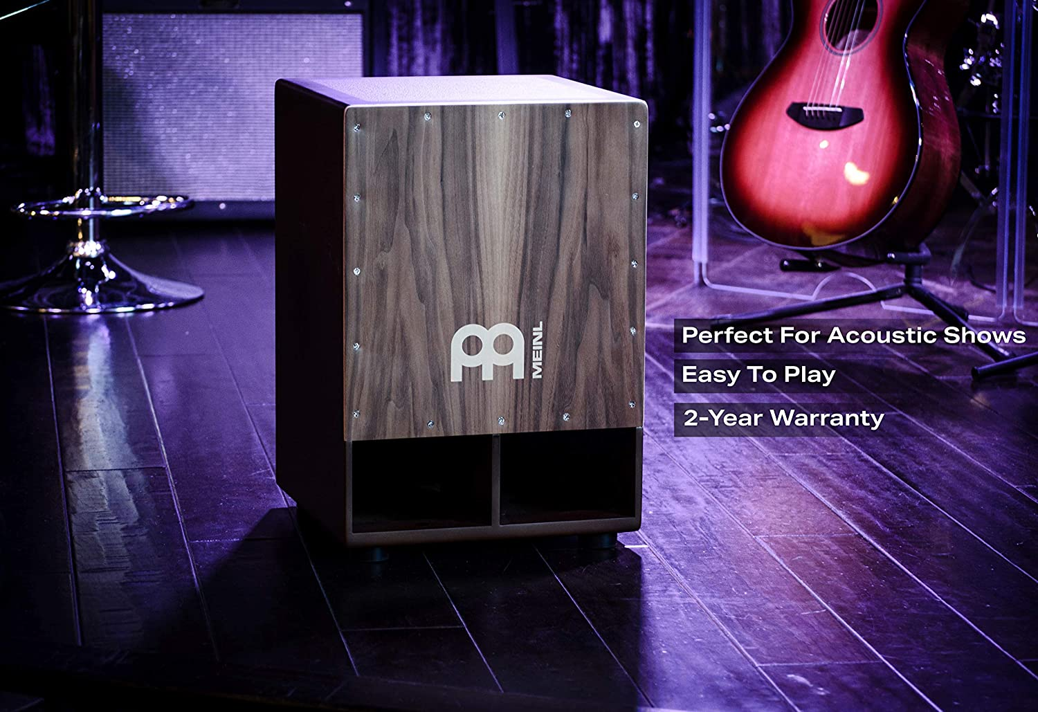 SUBCAJ5WN Meinl Jumbo Bass Subwoofer Cajon with Internal Snares Walnut Playing Surface 2-YEAR WARRANTY NOT MADE IN CHINA