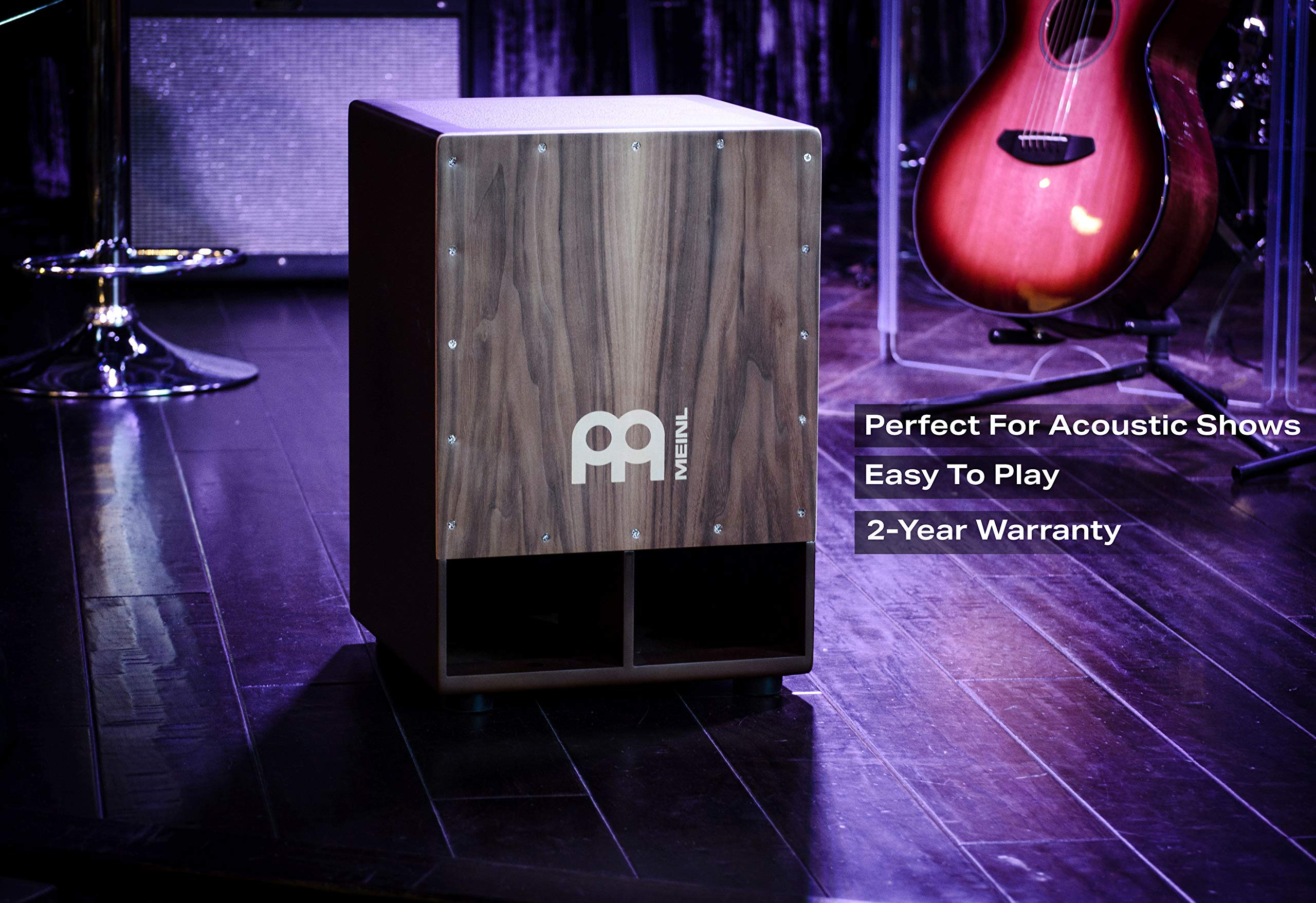 Meinl Jumbo Bass Subwoofer Cajon with Internal Snares - NOT MADE IN CHINA - Walnut Playing Surface, 2-YEAR WARRANTY (SUBCAJ5WN) by Meinl Percussion (Image #4)