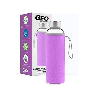 Geo cristal sin BPA botella de agua, 500 ml, Púrpura