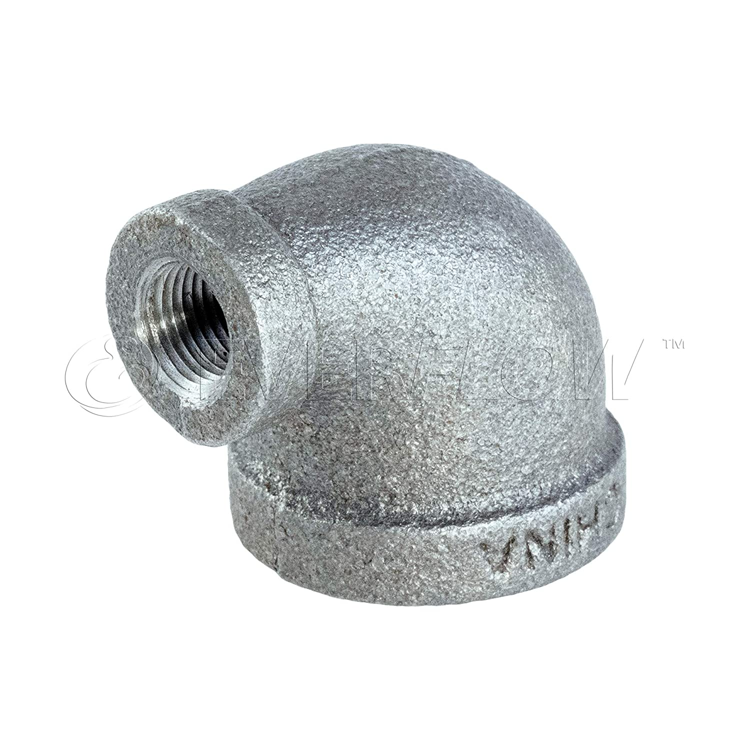 """BMFF0034 3//4/"""" 45 DEGREE MALLEABLE IRON ELBOW FOR HIGH PRESSURE W//FEMALE THREAD"""