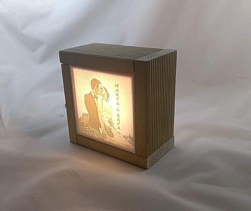 Lampara con foto personalizada impresión 3D. Litofania.: Amazon.es ...