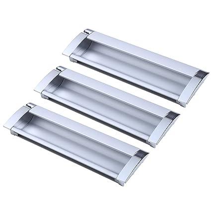 Mobili Da Cucina Alluminio.Uhppote Alluminio Moderno Anti Collisione Mobili Da Cucina Armadio Porta Incasso Maniglia 128mm 5