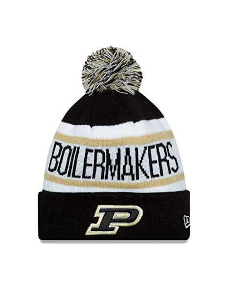 low priced eea75 505da ... new zealand ncaa purdue boilermakers new era college biggest fan redux  knit beanie one size black