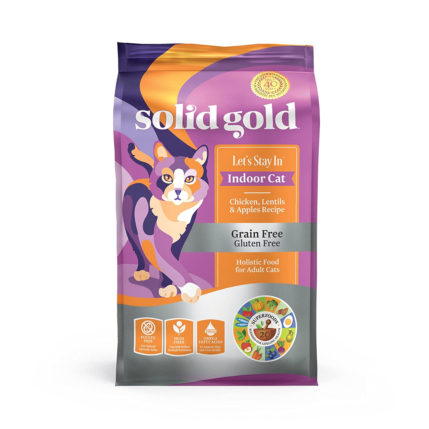 Solid Gold - Let's Stay In - Grain-Free - Indoor Formula Dry Cat Food