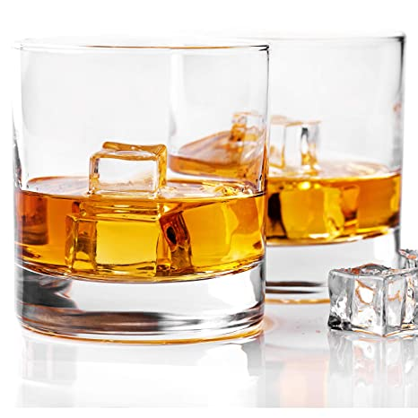 a4e0481b147 Whiskey Glass Set of 2 -10 oz Bourbon Glasses for Old Fashioned Cocktails,  Scotch Glasses, Perfect Rocks Glass & Best Gift Set by Taylor'd Milestones  ...