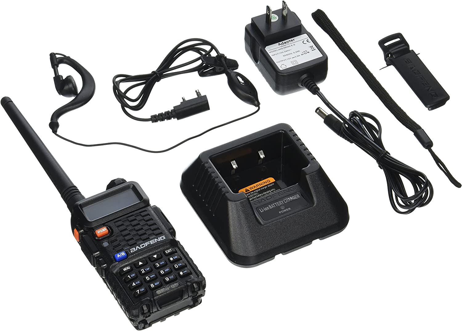 BaoFeng BF-F8 Upgraded Version of UV-5R Dual-Band 136-174 400-520 MHz FM Ham Two-Way Radio Transceiver