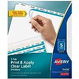 Avery 5-Tab Binder Dividers, Easy Print & Apply