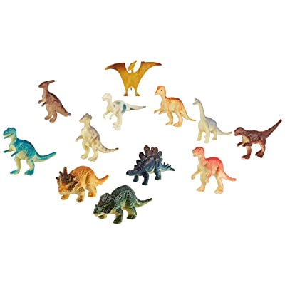 US Toy Assorted Mini Dinosaur Plastic Figures (Lot of 12): Toys & Games