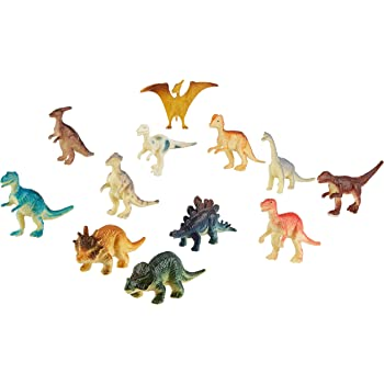 Amazon Com Dinosaur Figures 10 Tiny Stretchy Mini