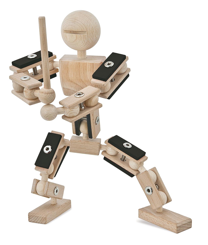 rewoodo Helden aus Holz Ninja - Ninja aus Holz - Holz Ninja Actionfigur