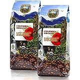 Java Planet - Colombian USDA Organic Coffee Beans, Fair Trade, Low Acid, Medium Dark Roast, Arabica Gourmet Specialty Grade A - 2 1lb bags