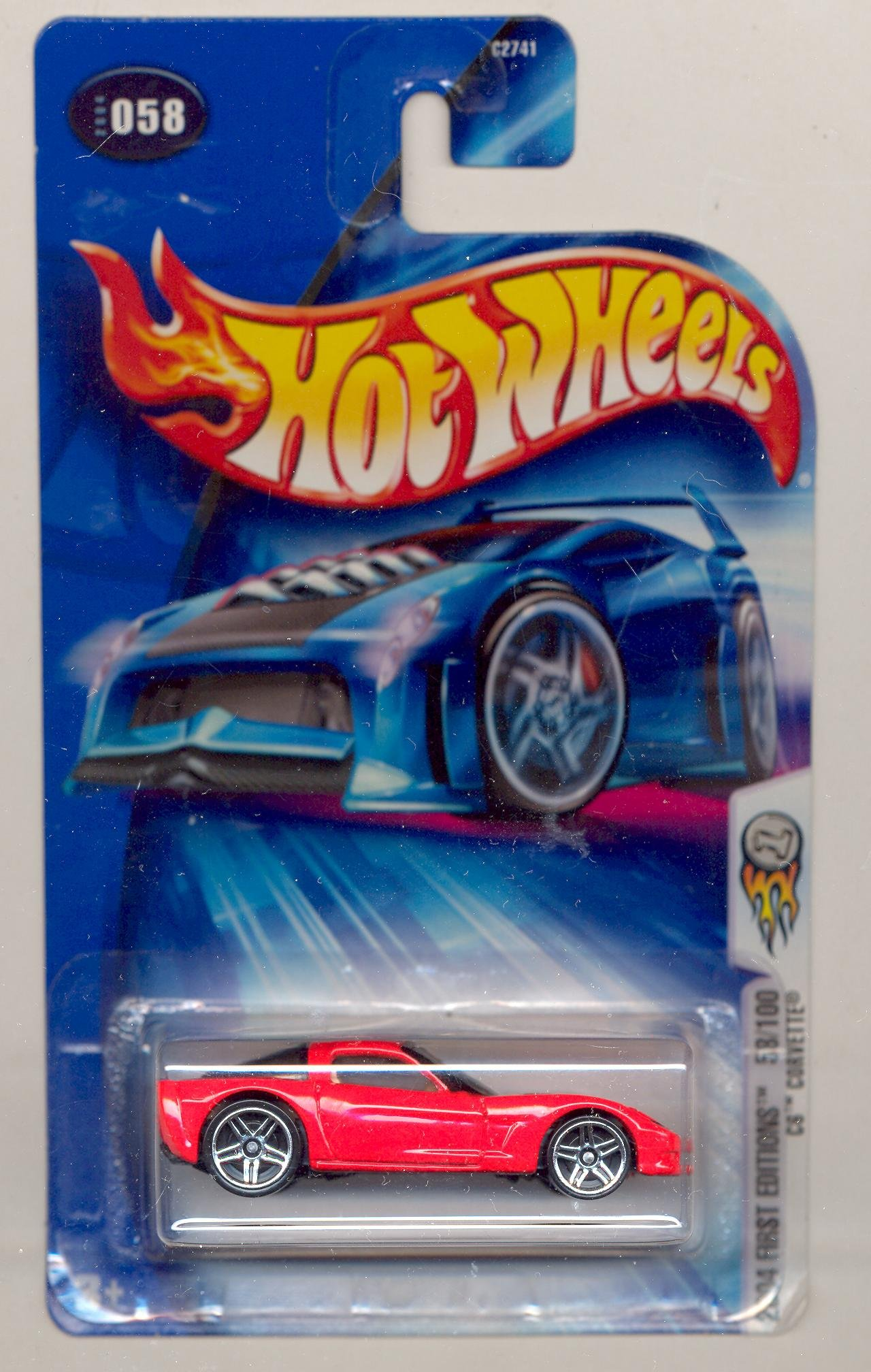 Hot Wheels 2006 Chevrolet Chevy Corvette C6 Blue #154 154