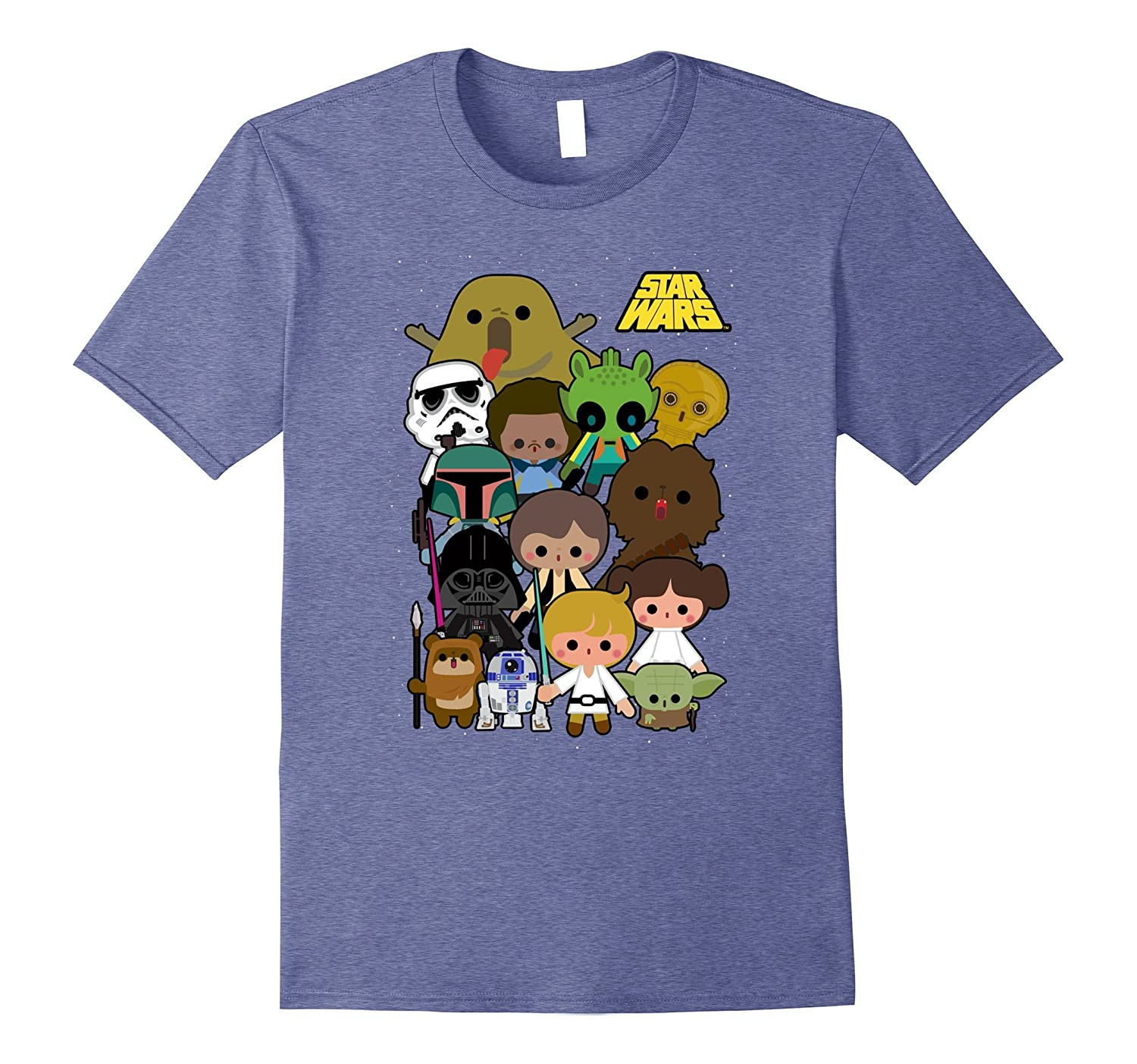 1709b69b7de Star Wars Cute Cartoon Character Group Kawaii T-Shirt - mnglogistics.nl