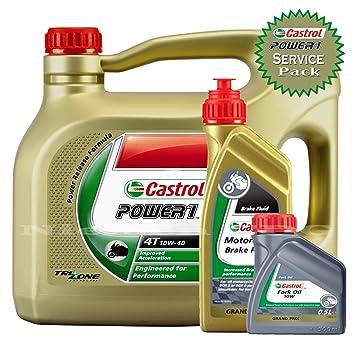 Castrol potencia 1 4T 10 W40 parte sintético – Aceite de motor de moto 4L +