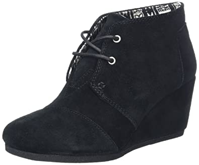 477ce75db45 TOMS Women s Black Suede Desert Wedges 10006248 (Size  ...