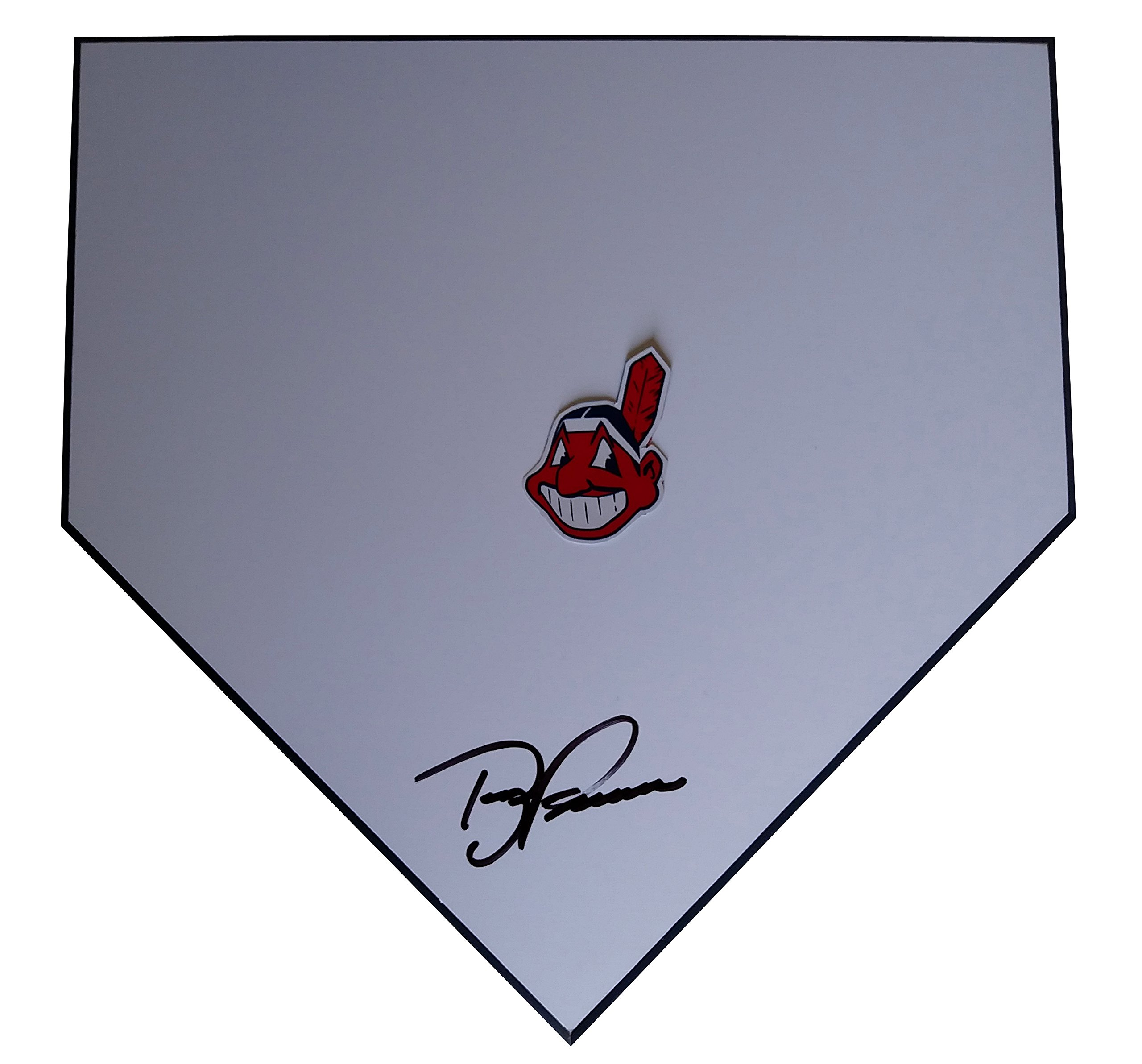 Cleveland Indians Terry Francona Autographed Hand Signed Baseball Home Plate Base with Proof Photo of Signing and COA