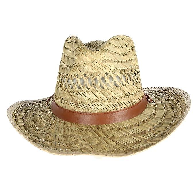 cc701aa75 Kenny K Men's Rush Straw Lightweight Safari Hat with Chin Cord ...
