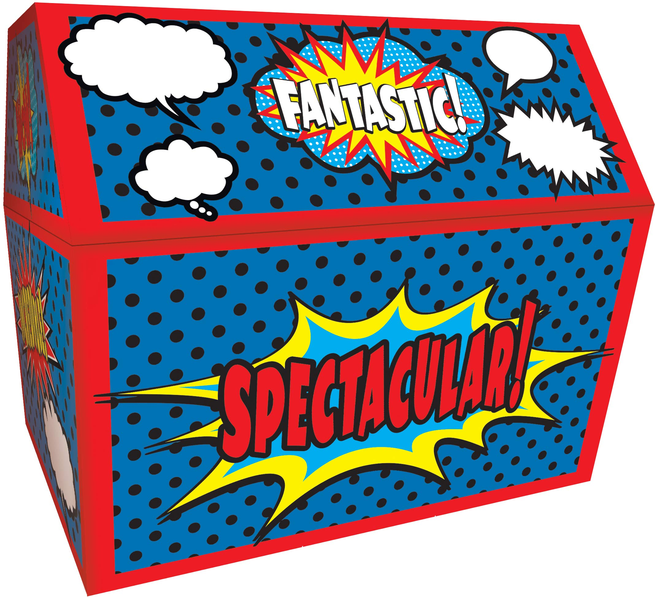 Teacher Created Resources Superhero Chest, 9-1/2 x 8 x 8-1/2 Inches by Teacher Created Resources