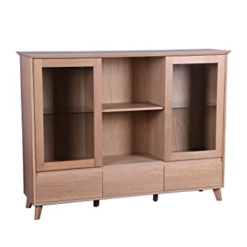 Möbel 247 Barron Lowboard Holz Eiche 3 Teilig Amazonde Küche